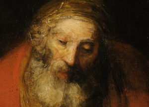 "Detail of Rembrandt's ""Return of the Prodigal Son"""