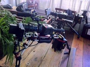 Sony FS100 shoulder rig