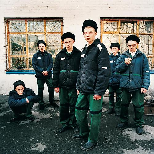 "Michal Chelbin, ""Young Prisoners, Juvenile Prison for Boys, Russia, 2009"" at  Andrea Meislin Gallery"